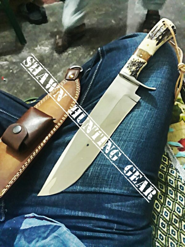 Handmade D2 Steel Strong Bowie Knife Shawn Hunting Gear